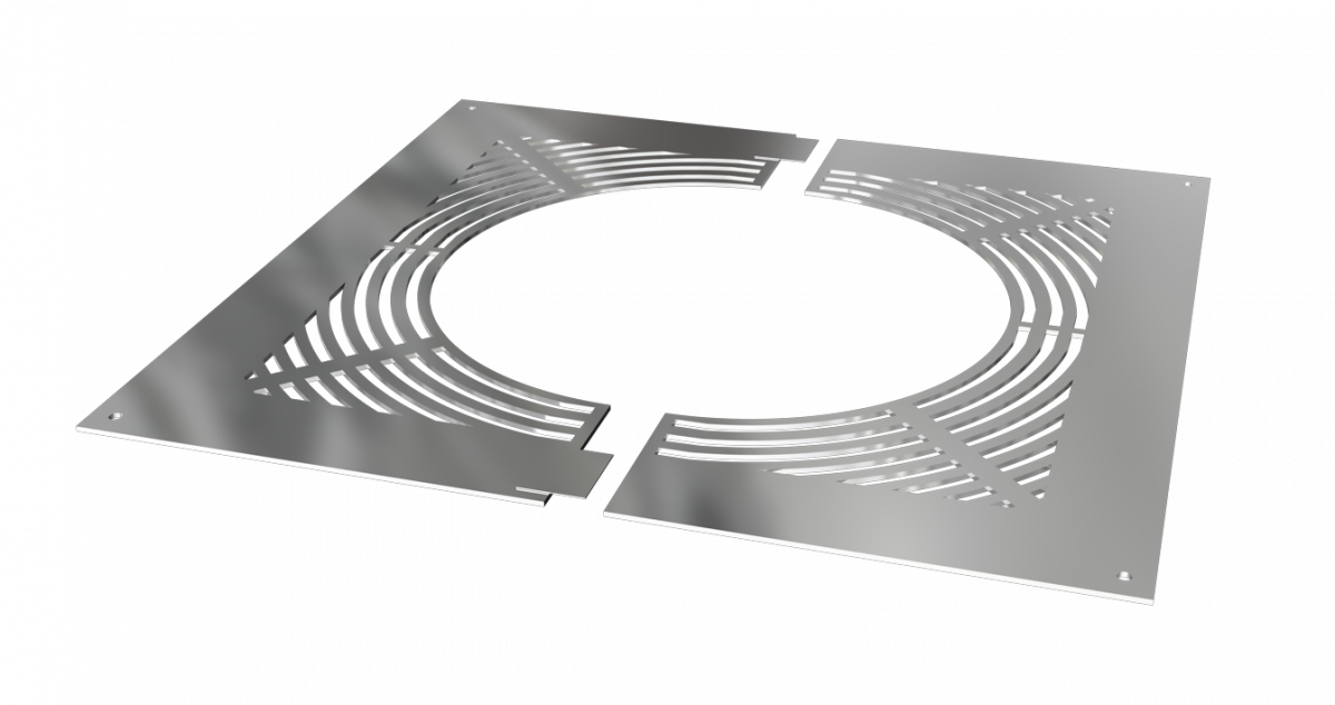 Ventilated firestop plate