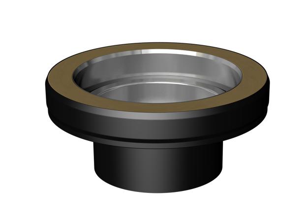 "Increasing Adapter: Single 100 mm to twin wall 125 mm (4""-5"")"