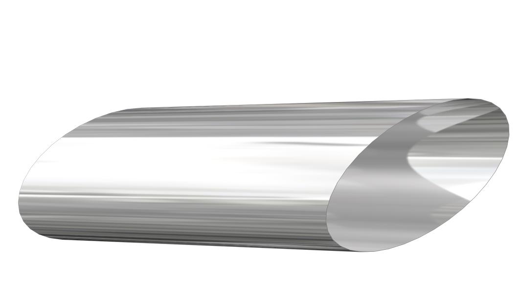 Wall sleeve 45º silver