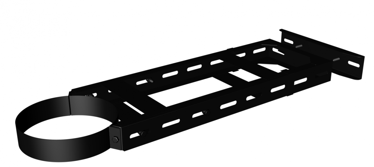Wall support 55 - 77 cm black