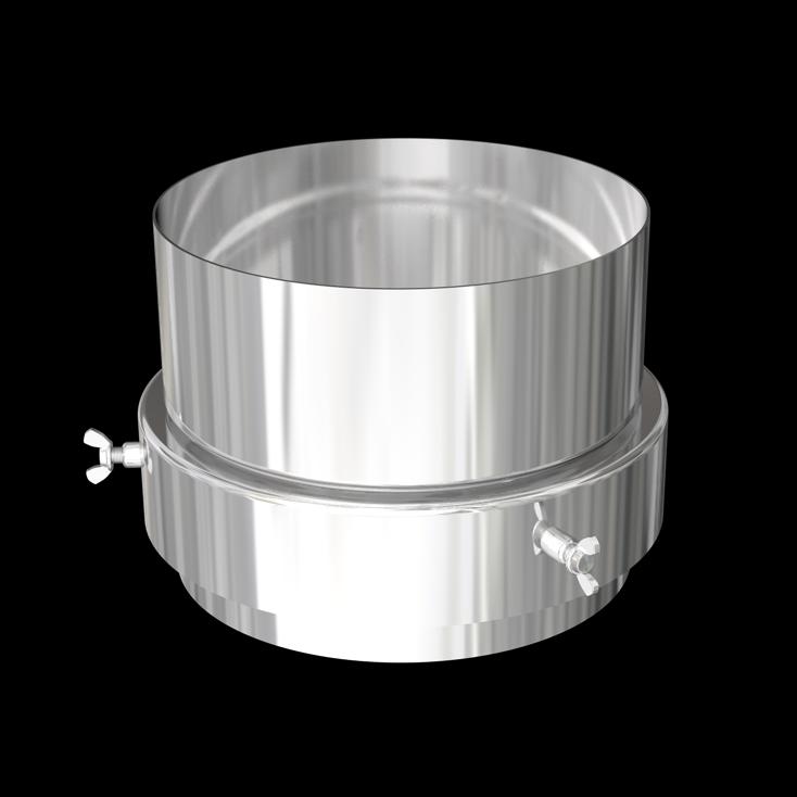"Stove pipe to flex adaptor (6"")"