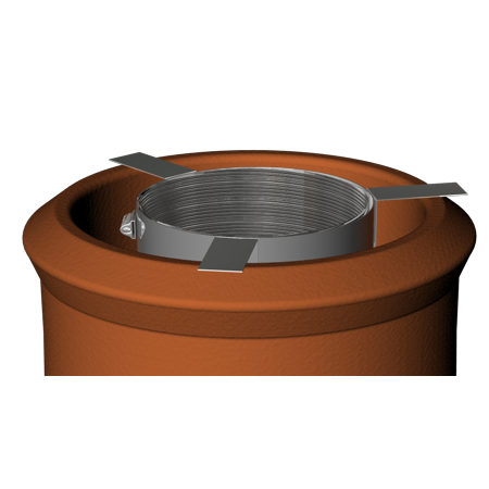 Fixing Bracket For Liner To Pot Hanger Rain Cap 125 mm