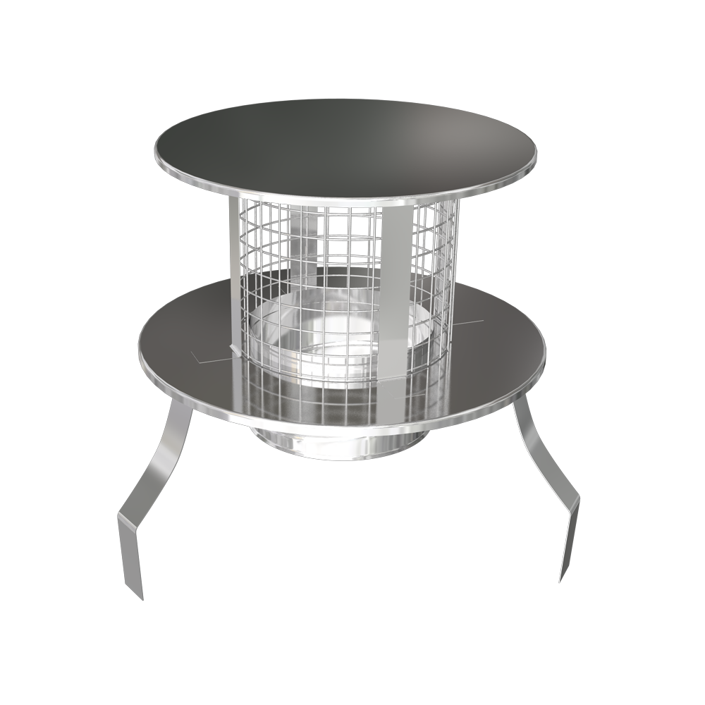 Screw Fit Pot Hanger Rain Cap (steel or terracotta)