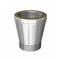 Adapter: Single to twin wall - conical