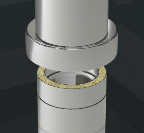 Isolated twin wall flue