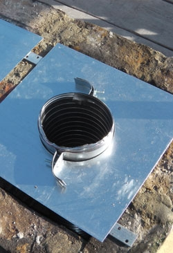 chimney flue installation